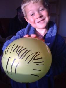 mr balloon face's hair