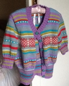 finished cardi