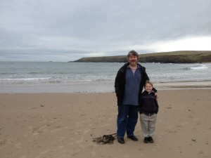 steve & joel on whistling sands
